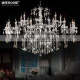 New Arrival Crystal Chandelier in Chrome Color Wrought Iron Chandelier for Hotel MD2520-L24