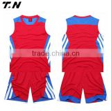 Basketball jersey uniform design, blank basketball jerseys color red
