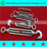 High quality drop forged galvanized turnbuckle hook and eye / eye and eye line hardware