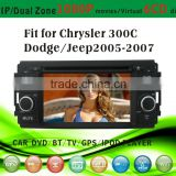 touch screen car dvd player fit for Jeep old Chrysler 300C Dodge 2005-2007 with radio bluetooth gps tv pip dual zone