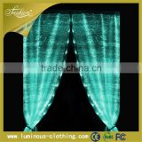 Led glow decorative lights fiber optical fabric window curtain