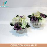 potted small decorative artificial flower rose water flower wholesale