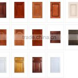 Cheap mdf board pvc laminated kitchen cabinet door