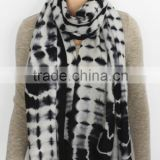 Black Tie Dye Light Cashmere Scarf