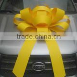 HOT SALE! 75CM Giant Yellow Waterproof Plastic Bow for Car Hanging Decorations                                                                         Quality Choice