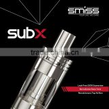 SMISS Top 10 E-cig Manufacturer On Sale Revolutionary Dual Airflow Nichrome Coil SubX Tank