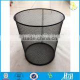Elegant black office supplies metal mesh trash basket , durable and strong mesh can