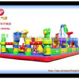 high quality amusement inflatable castle park, inflatable bouncer for kids