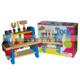 27*10.5*22.5cm Top Quality Wooden Tool Shelf Toy with Promotions