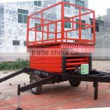 4-16 m double-wheel traction moving scissor lift table / aerial work table