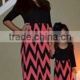 Latest fashion mother and daughter dress family set clothes