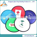 Foldable Frisbee with pouch,foldable nylon frisbee fan