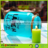 home interior manufacturer blue glass votive candle holder for wedding tablet centerpieces