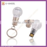 acrylic lights usb stick bulb shaped usb pen drive lamp usb flash drive for promotion