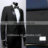 2014 spring coming style !!! One button shawl lapel pure black custom made men tuxedo suit ! finished made suits display !