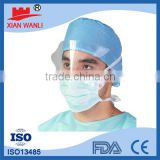 Disposable nonwoven plastic eye shield Face mask