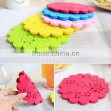 50 pcs/set Fashion Creative Cup Mat Coasters Insulation Mat Protect Desk Small Gift Table mat