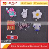 Leather stickers accept custom design sticker with 3D effect embossed or debossed the best quality