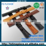 FS FLOWER - Slim Women's Leather Strap Crocodile Skin or Calk Skin 16 mm