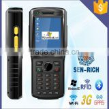 handheld RFID UHF Reader Win CE 5.0 PDA with Bluetooth/WiFi/GPRS/Barcode Function Provide SDK