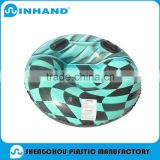 fashion high quality CMYK circle pvc inflatable floating water tube, outdoor winter lounger/surfing boat