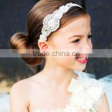 Hot sale Beautiful Girls&women rhinestone headbands Baby kids diamante hair accessories Wedding jewelry cotton for Girls