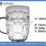 LongRun 650ml large capacity classical and typical tableware drinking beer glass cup water glass cup with handle
