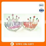 Wholesale plastic birthday party princess tiara crown for kids
