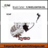 brush cutter parts blade series,fly wheel / Ignition coil 1E34F-3 for grass trimmer