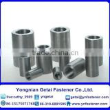 Steel bar connecting sleeve for the building fittings , (H.D.G) /Galvanized with black /yellow zinc plated/blue white