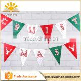 China supplier Christmas supplies pennant paper triangle banner party decorations