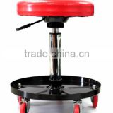 Height Adjustable Chair Garage with Capacity Mechanics Creeper Seat Round Rolling Stool