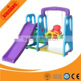 Cheap toddler indoor swing play equipment/plastic slide for home