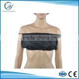 Disposable black and blue PP non woven massage/spa salon bra with elastic