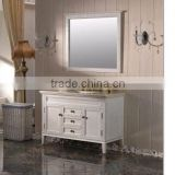 Bath Mirror Mirror Type and PVC Membrane Door Panel Surface Treatment hanging bathroom corner cabinet
