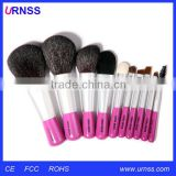 Cheap price rhinestone natural hair small makeup brush set