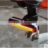 USB Rechargeable Led Bike Bicycle Laser Beam Rear Tail Light Strobe Light lamp On Bike
