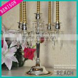 2013 hot selling 5 arms candelabra centerpieces wedding for tea light table decoration
