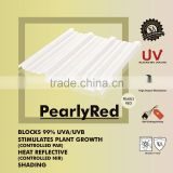 Heat reflective IR cut plastic Polycarbonate Corrugated sheet (Pearly RED TRIMDEK)