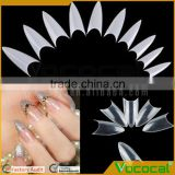 500 Pcs of 10 Sizes DIY Stiletto Point Shape False Gel Nail Art Tips