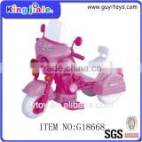 Pink plastic B/O toy motorcycle for girls