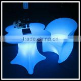New product high quality PE led light dinning chair sets / Bar led furniture light up leisure chairs sets