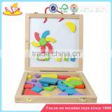 wholesale fashion wooden magnetic blocks toy superior quality wooden baby puzzle block toy W14A098