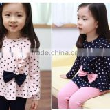 spring autumn baby girls clothing sets girl cartoon suit clothing children kids coat polka dot clothes pants T-shirt+pant