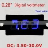 "DC3.50-30.0V Waterproof 2 Lines 0.28"" Digital Voltmeter"