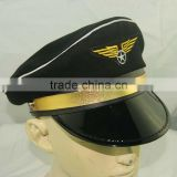 security cap airline pilot cap black military peaked cap custom