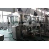 Carbonated drink filling line Carbonated drink filling line mainly includes bottle blowing machine, rinsing filling capping monoblock, bottle warming machine, label machine, plastic film shrinking machine, palletizer, wrapping machine.