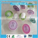 push small compressed wet perfume tissue for cleaning hands and face