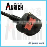 european ac power cord dc power cable 2.5mm plug male to male gu10 lamp holder power cable
