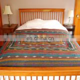 Queen Size Kantha Throw Soild Colour Black Kantha Quilt Embroidered Kantha Bed Cover